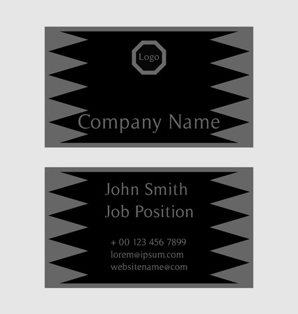 calling art: Business card design, black and grey colors Illustration