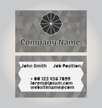 ide: Two-sided business card design