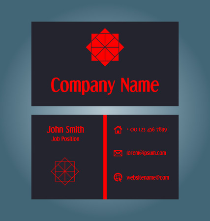 advertise: Two-sided business card design