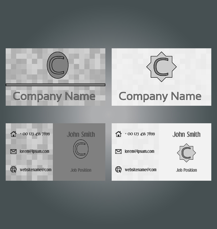 ide: Two-sided business card design set
