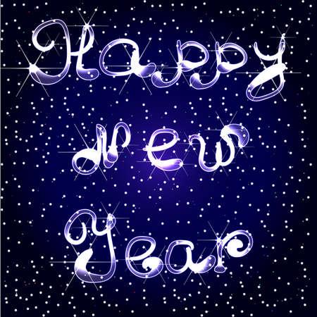 date night: Happy new year illustration. Illustration
