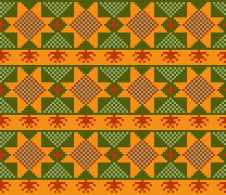 Ethnic design pattern. Russian traditional motive. Seamless Illustration
