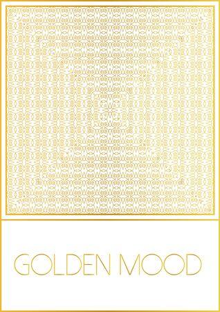 ebook cover: Ornamental design. Golden style.For flyer,invitation,  booklet, folder, pamphlet, brochure, e-book, book cover. Decorative vector illustration. Illustration