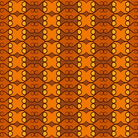 fanciful: Seamless pattern design.Decorative abstract colorful background with curves and swirls in brown colors