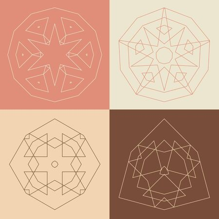peachy: Collection of vector design templates and patterns. Abstract round icons. Set of creative circular symbols. Illustration