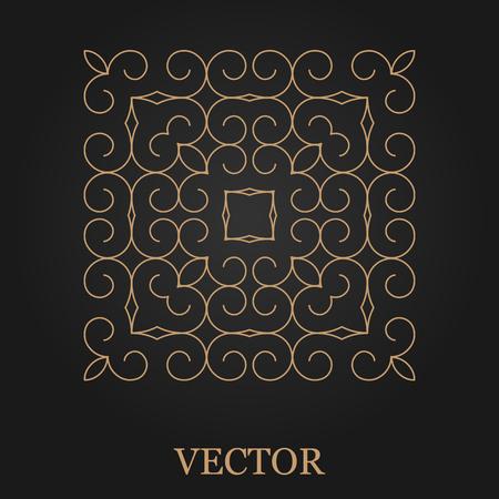 mono: design template, creative monogram, abstract round emblem, mono line decorative icon, vector illustration.