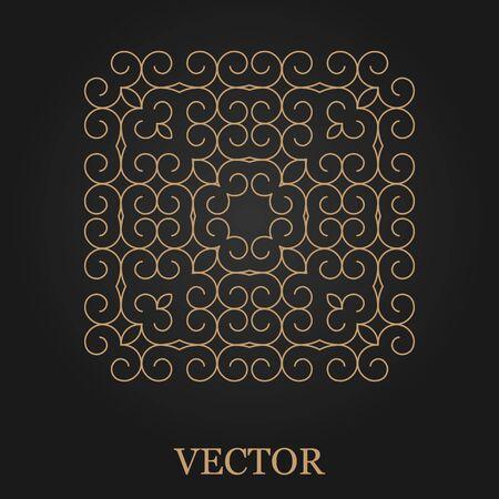 mono: Logo design template, creative monogram, abstract round emblem, mono line decorative icon, vector illustration.