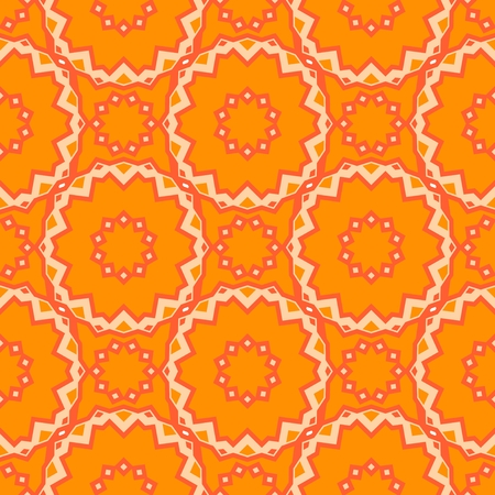 Seamless pattern design. Mandala round elements. Ethnic colorful background. For textile, print, carpet and other decoration Illustration
