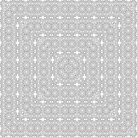 intricate: Vector square design template. Modern decorative pattern in black and grey colors.  Creative intricate background.