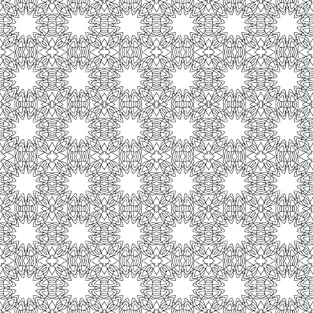 Vector seamless pattern. Modern decorative  design template. Creative intricate background.
