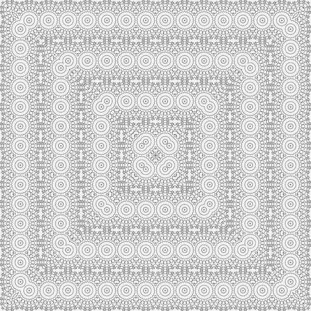 intricate: Vector square design template. Modern decorative pattern. Creative intricate background.