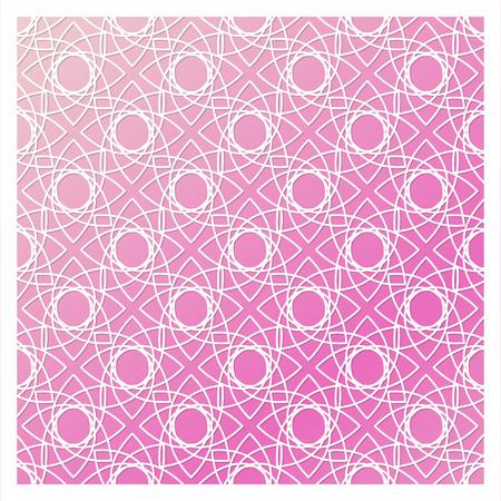 레이저 커팅 템플릿입니다. 스텐실을 자르십시오. 사각형 벡터 패널 초대장, 봉투, 인쇄, 인사말, 비즈니스, 나무, 금속 컷 아웃. 핑크색 배경에 흰색 패 일러스트