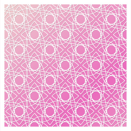Laser cutting template. Die cut stencil. Square vector panel for invitation, envelope, printing, greeting, business, wood, metal cutout. White pattern on pinkbackground.