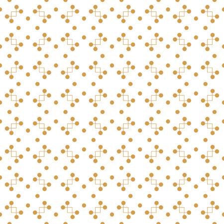라인 및 점 벡터 원활한 패턴입니다. 현대적인 디자인 템플릿입니다. 황금 색상으로 창조적 인 추상적 인 배경
