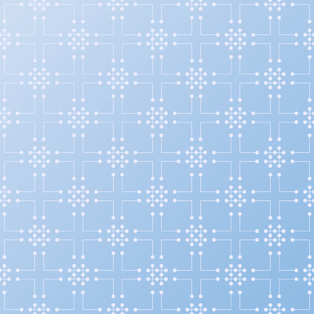 원활한 패턴 벡터 배경 라인 및 파란색에서 점으로 장식. 현대 디자인 템플릿