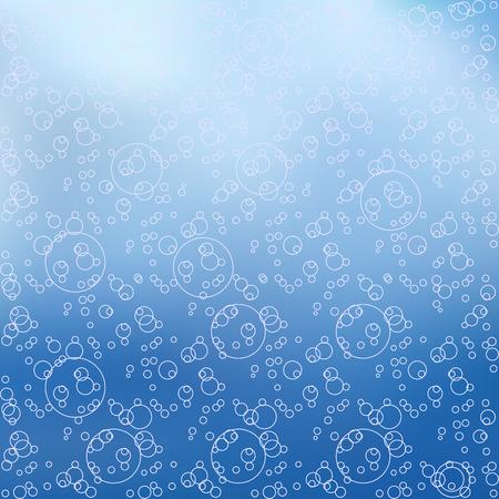 동그라미와 블루 벡터 배경입니다. 현대 디자인 템플릿