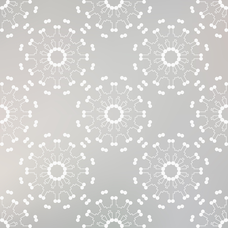 원활한 패턴 벡터 배경 선 및 점 회색 색상으로 장식. 현대 디자인 템플릿 일러스트