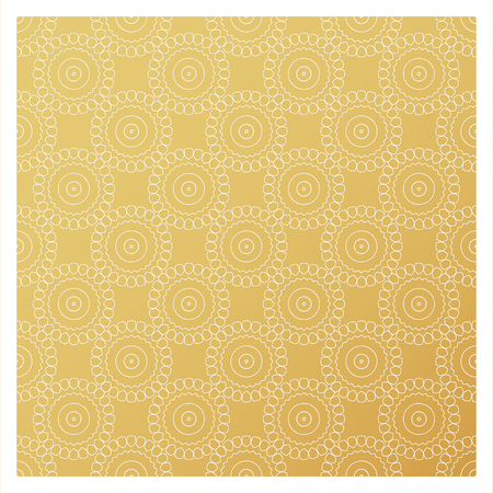 Laser cutting template. Die cut stencil. Square vector panel for invitation, envelope, printing, greeting, business, wood, metal cutout. White pattern on golden background. Illustration