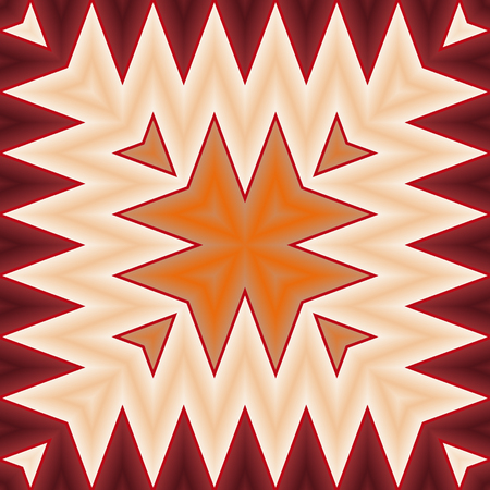 peachy: Bright, psychodelic seamless pattern. Mosaic decorative design template. Geometric abstract background.