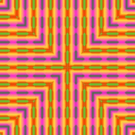 Helles, psychodelisches nahtloses Muster. Dekorative Entwurfsschablone des Mosaiks. Geometrischer abstrakter Hintergrund.
