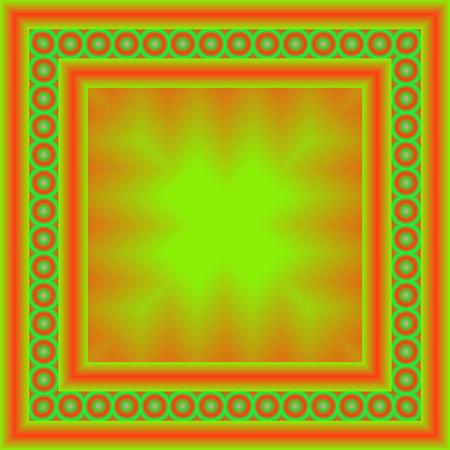 밝고 화려한 사각형 프레임입니다. 기하학적 테두리, 추상 디자인 서식 파일입니다. 스톡 콘텐츠