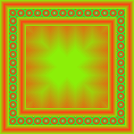Bright, colorful square frame. Geometric border, abstract design template. 스톡 콘텐츠