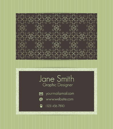 Two Sided Business Card Ctor Template For Business Invitation