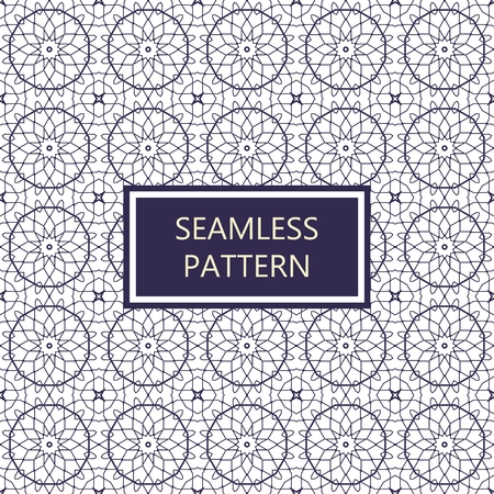 grid background: Vector seamless pattern. Simple monochrome design template. Geometric background in blue colors.