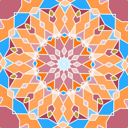 Seamless pattern in arabic style. Muslim, eastern, oriental colorful background. Vector illustration.