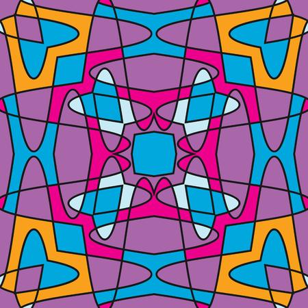 Kleurrijke naadloze geometrische patroon. Sier, mozaïek vector achtergrond. Geschikt voor textiel, tegel, mode, verpakking.
