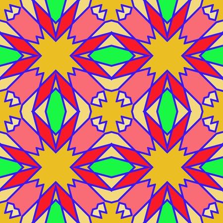 Kleurrijk naadloos geometrisch patroon. Sier, mozaïek vector patroon. Geschikt voor textiel, tegels, mode, verpakking.