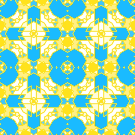 Colorful seamless geometric pattern. Ornamental, mosaic vector background. Suitable for textile, tile, fashion, package.