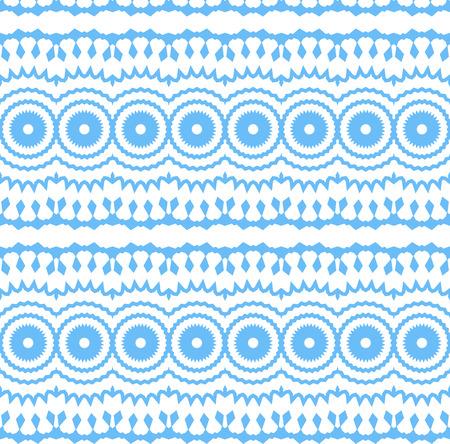 원활한 테두리 화이트에 격리입니다. 장식 tileable 파란색 장식입니다. 벡터 일러스트 레이 션.
