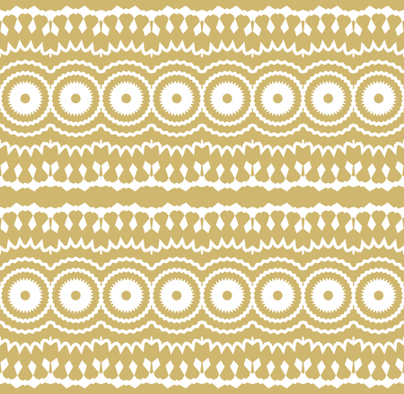 Seamless border isolated on white. Decorative tileable golden ornament. Vector illustration. 일러스트