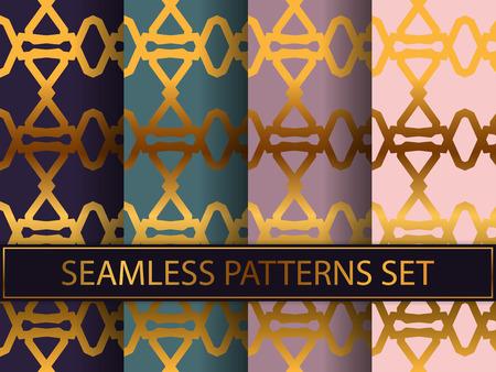 Art deco pages for textiles Illustration
