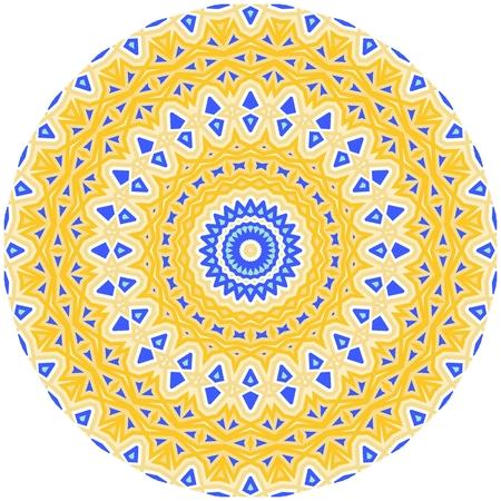 Bright colorful mandala, floral emblem