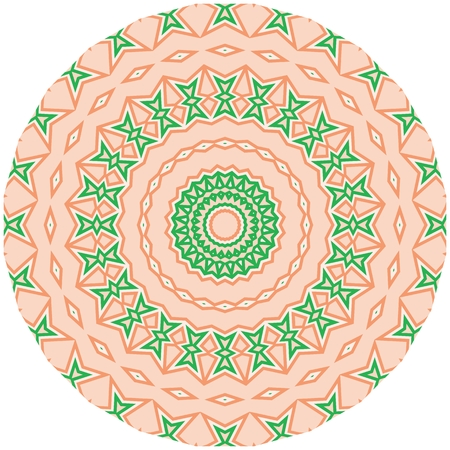 Bright colorful mandala, floral emblem, round decorative ornament isolated on white, geometric pattern, eastern, islamic, muslim, japanese, indian circular symbol.