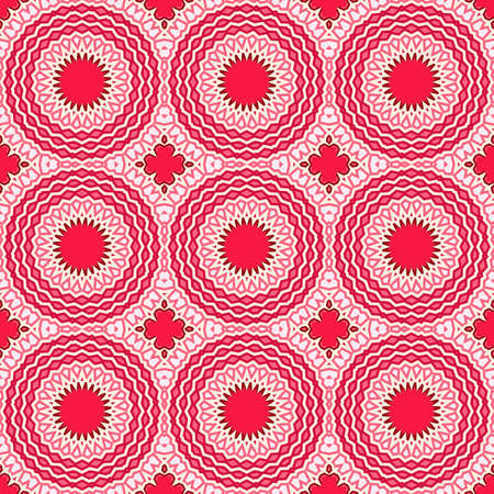 red carpet background: Seamless pattern in arabic style. Muslim, japanese, eastern, oriental , bright colorful background. Stock Photo
