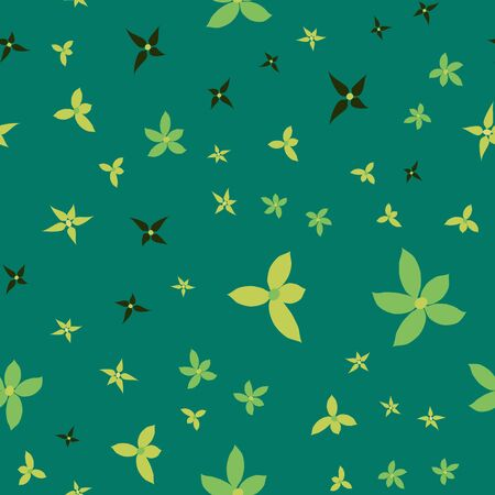 Floral seamless pattern with falling leaves.