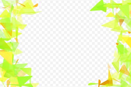 Falling triangles, random geometric elements isolated on transparent background.