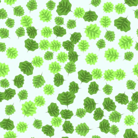 Seamless pattern with hand drawn doodle leaves. Floral vector background.