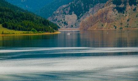taylor: Beautiful vista of Taylor Reservior in Colorado Stock Photo
