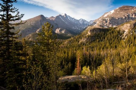 Beautiful vista of mountians in Colorado photo