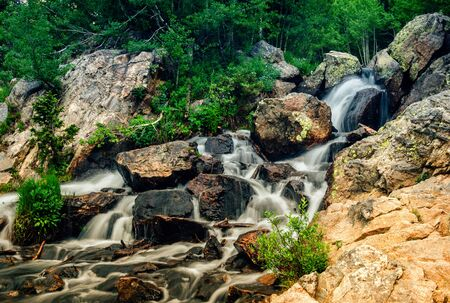 Cascading Water in Rocky Mountain National Park