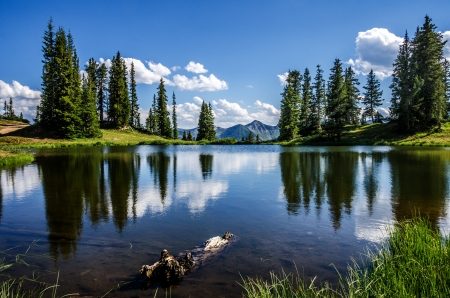 butte: Beautiful Paradise Lake near Crested Butte Co