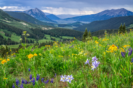 Evening High up Washington Gulch near Crested Butte Colorado Stok Fotoğraf - 62745127