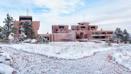 NCAR building after a snowfall