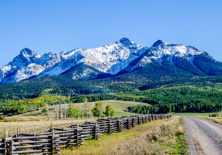 San Juan Mountains in Colorado from the last Dollar Road Reklamní fotografie