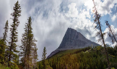 Beautiful View of Canadian Mountain Landscape during a vibrant summer day. Taken in Canmore, Alberta, Canada.