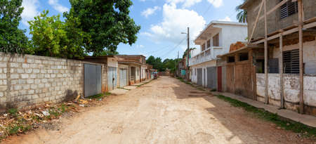 Trinidad, Cuba. Street View of a small Cuban Town during a vibrant sunny day.